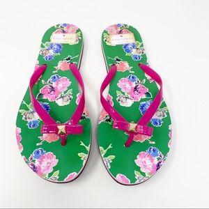 KATE SPADE Floral Flip Flops 9